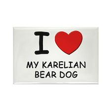 I love MY KARELIAN BEAR DOG Rectangle Magnet (10 p