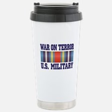 War On Terror Service Ribbon Stainless Steel Trave