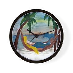 Lazy Mermaid Wall Clock