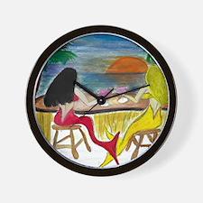 Martini Mermaids Wall Clock