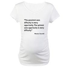 Churchill Pessimist Optimist Quote (Front) Materni