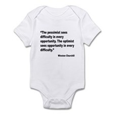 Churchill Pessimist Optimist Quote Infant Bodysuit