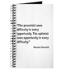Churchill Pessimist Optimist Quote Journal