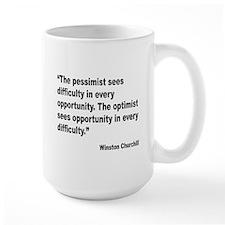 Churchill Pessimist Optimist Quote Mug