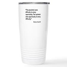 Churchill Pessimist Optimist Quote Travel Mug