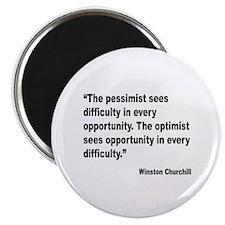 Churchill Pessimist Optimist Quote Magnet
