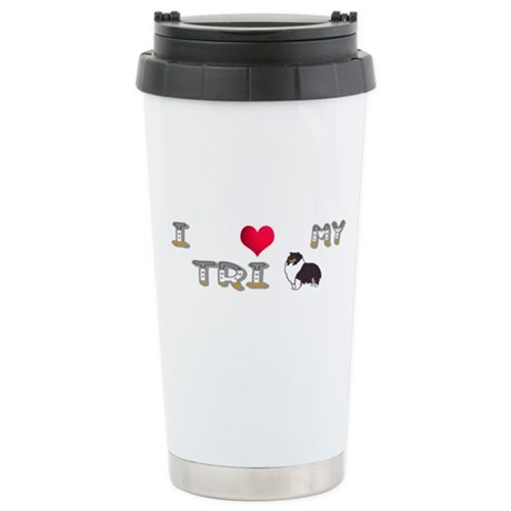 I Love My Tri Stainless Steel Travel Mug