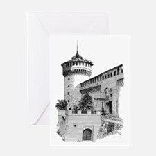 'Sforza Castle' Greeting Card