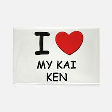 I love MY KAI KEN Rectangle Magnet (10 pack)