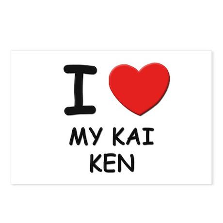 I love MY KAI KEN Postcards (Package of 8)