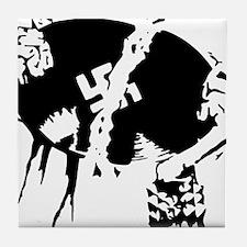 nazi trash Tile Coaster