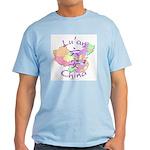Lu'an China Map Light T-Shirt
