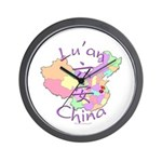 Lu'an China Map Wall Clock