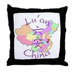 Lu'an China Map Throw Pillow