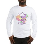 Lu'an China Map Long Sleeve T-Shirt