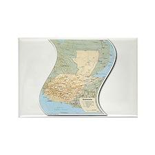 Mapa de Guatemala Rectangle Magnet
