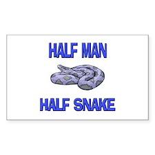 Half Man Half Snake Rectangle Decal