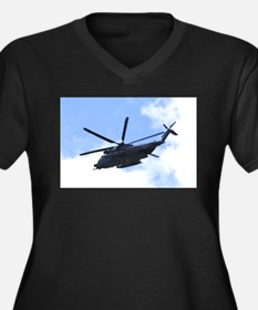 Pave Low Copter Women's Plus Size V-Neck Dark T-Sh