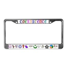 Peaceful Coexistence License Plate Frame