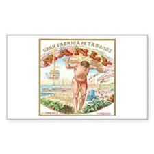 Manly Cigars Vintage Ad Rectangle Decal