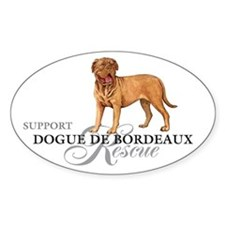 Dogue de Bordeaux Rescue Oval Decal