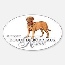 Dogue de Bordeaux Rescue Oval Decal