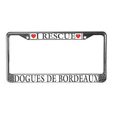 Dogue de Bordeaux Rescue License Plate Frame