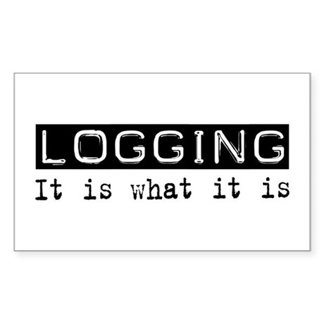 Logging Is Rectangle Sticker