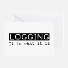 Logging Is Greeting Card
