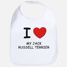 I love MY JACK RUSSELL TERRIER Bib