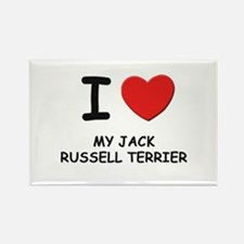 I love MY JACK RUSSELL TERRIER Rectangle Magnet