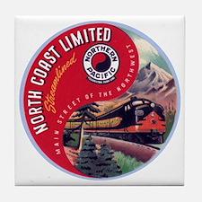 North Coast Railroad Tile Coaster