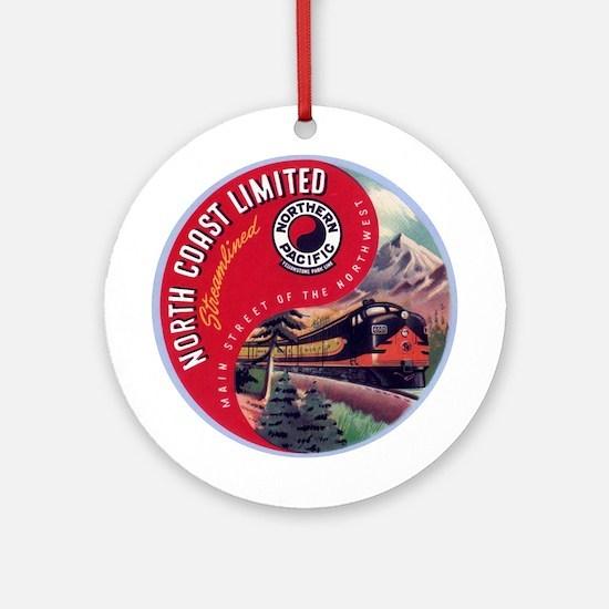 North Coast Railroad Ornament (Round)