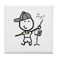 Boy & Conductor Tile Coaster