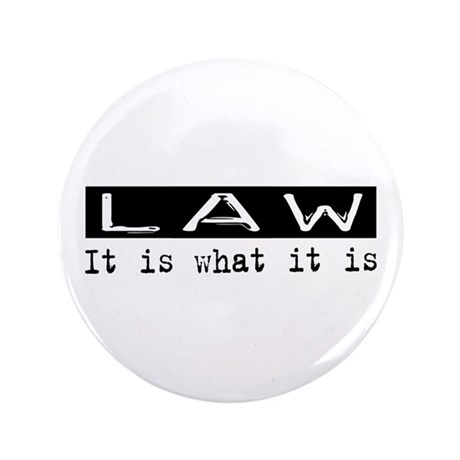 "Law Is 3.5"" Button (100 pack)"