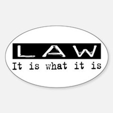 Law Is Oval Decal