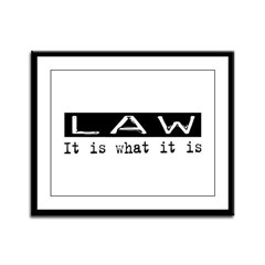 Law Is Framed Panel Print