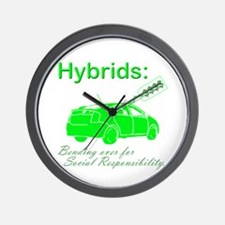 Hybrids: Social Responsibility Wall Clock