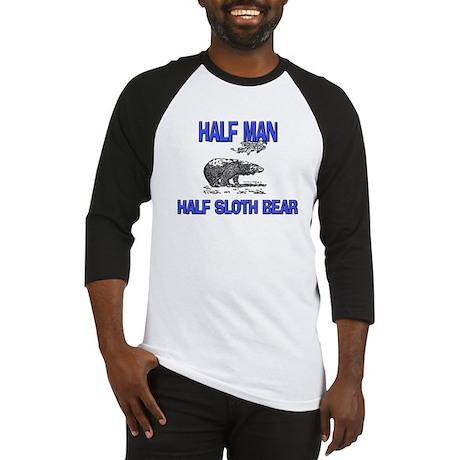 Half Man Half Sloth Bear Baseball Jersey