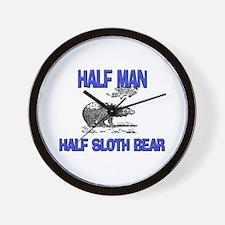 Half Man Half Sloth Bear Wall Clock