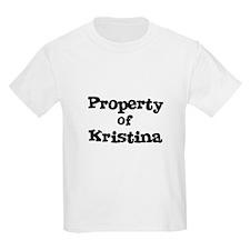 Property of Kristina Kids T-Shirt