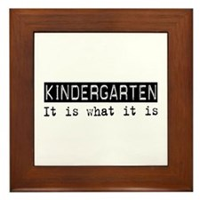Kindergarten Is Framed Tile