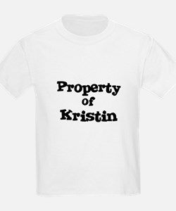 Property of Kristin Kids T-Shirt
