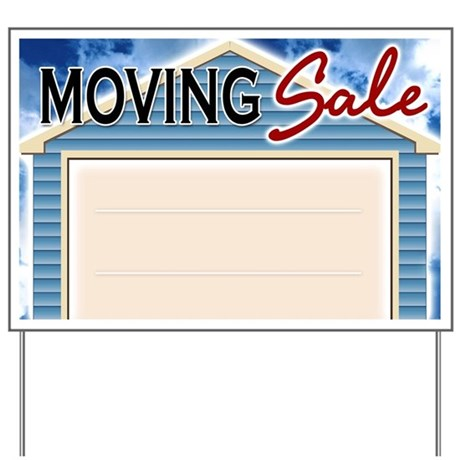 Moving Sale Yard Sign By Tshirtdiva