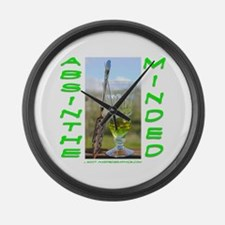 Absinthe Minded Large Wall Clock
