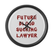 Future BS Lawyer Large Wall Clock