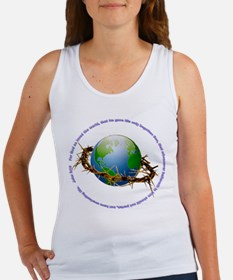 Christ Crown of Thorns and Globe Women's Tank Top
