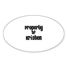 Property of Kristen Oval Decal