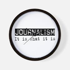 Journalism Is Wall Clock
