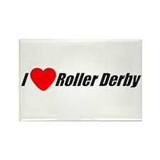I Love Roller Derby Rectangle Magnet